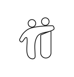 Friendship people commitment teamwork together vector