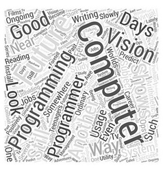 Future of computer programming Word Cloud Concept vector