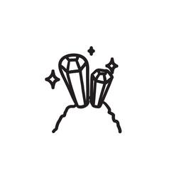 Gemstones sketch icon vector
