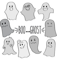 ghost grey multiple vector image vector image