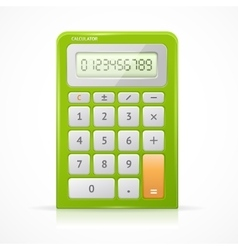 Green Calculator vector image