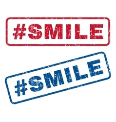Hashtag Smile Rubber Stamps vector