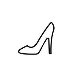 heel shoes icon black vector image