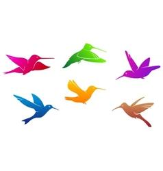 Hummingbirds symbols vector image vector image