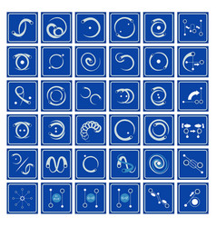 Icons in flow arts vector