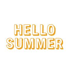 inscription hello summer vector image