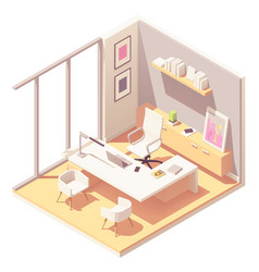 Isometric ceo office interior vector