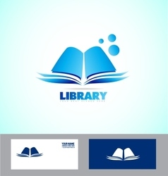 Library book logo icon vector