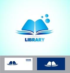 Library book logo icon vector