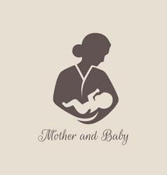logos child care motherhood and childbearing vector image