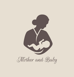 logos of child care motherhood and childbearing vector image