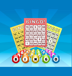Lottery bingo game balls with numbers and vector