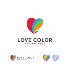 Love color logo designs colorful hearth logo vector