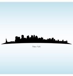 New york silhouette skyline vector