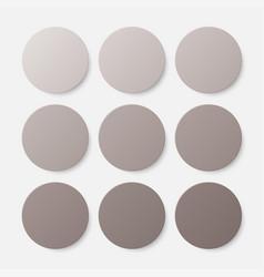 nine brown circles button circle banner vector image