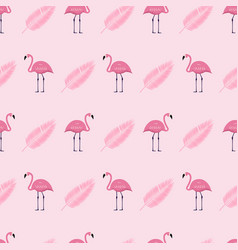 pink flamingo seamless pattern background vector image