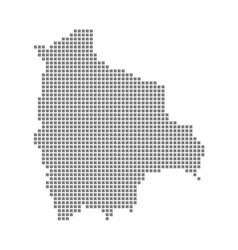 pixel map of bolivia dotted map of bolivia vector image