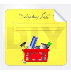 post-it shopping list vector image