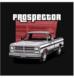 ram pickup prospector vector image