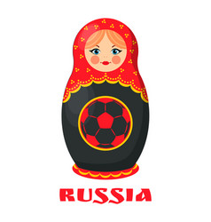 Russia poster russian doll vector