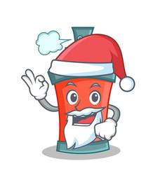 Santa aerosol spray can character cartoon vector