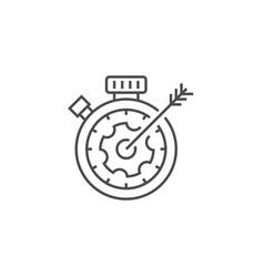 seo targeting line icon vector image