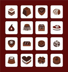 set icons of Chocolate Icons - vector image