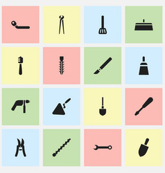 Set of 16 editable apparatus icons includes vector