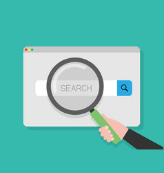 simple browser window with search bar for ui and vector image