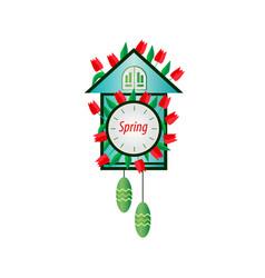 Spring clock cuckoo vector