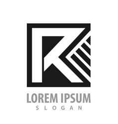 square letter r concept design symbol graphic vector image