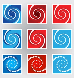 Swirl symbols set vector