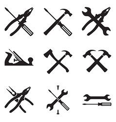 Tools icon set Icons isolated on white background vector