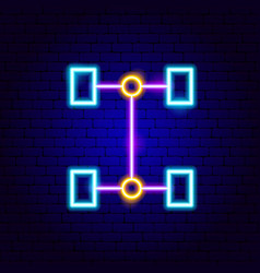 Transmission neon sign vector