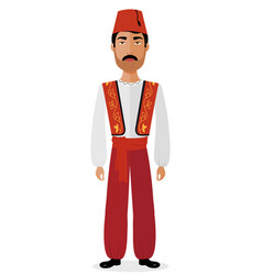 turkish couple man in traditional clothes vector image