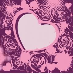 Valentine's postcard vector image