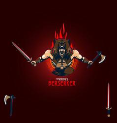 viking berserker vector image