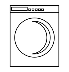 Washing machine icon outline style vector