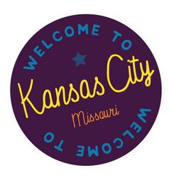 Welcome to kansas city missouri vector
