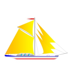 yacht on white vector image