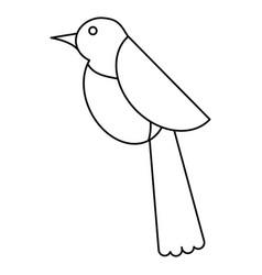 bird dove fauna fly icon thin line vector image
