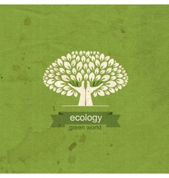 Ecology Tree and hand in the form of a tree trunk vector image vector image