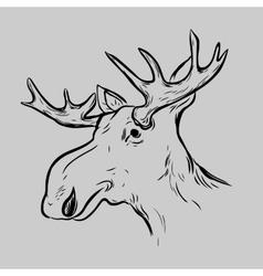 Elk Deer Mascot Head vector image