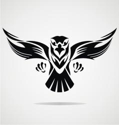 Hawk Bird Tribal vector image vector image