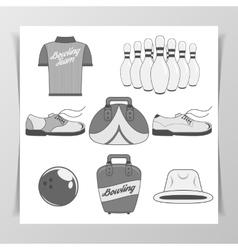 Set of Bowling vintage Design Elements vector image vector image