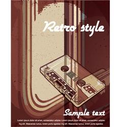 vintage concert poster vector image vector image
