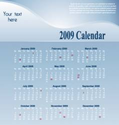 blue-calendar vector image vector image