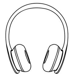 headphone icon line circuit eps 10 vector image