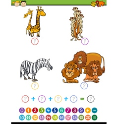 mathematical educational task vector image vector image