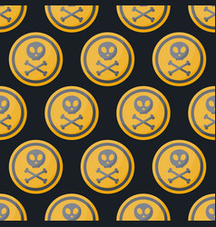 poison sign flat seamless pattern vector image vector image
